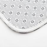 """Набор ковриков для ванной Этель """"Waves"""" 2 шт, 80х50 см, 50х40 см, велюр, фото 4"""