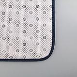 Набор ковриков для ванны и туалета Доляна «Винель», 2 шт: 40×50, 50×80 см, цвет синий, фото 4