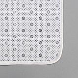 Набор ковриков для ванны и туалета Доляна «Соты», 2 шт: 79×50, 50×39 см, цвет коричнево-бежевый, фото 4