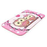 Набор ковриков для ванны и туалета Доляна «Совушки на ветке», 3 шт: 38×45, 40×43, 43×73 см, цвет розовый, фото 4