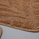 Набор ковриков для ванны и туалета SHAHINTEX «Актив», 2 шт: 50×80, 50×40 см, цвет капучино, фото 3