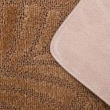 Набор ковриков для ванны и туалета SHAHINTEX «Актив», 2 шт: 50×80, 50×40 см, цвет капучино, фото 4