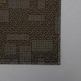 Набор ковриков для ванны и туалета Доляна «Агат», 2 шт: 50×80, 50×40 см, цвет бирюзово-жёлтый, фото 4
