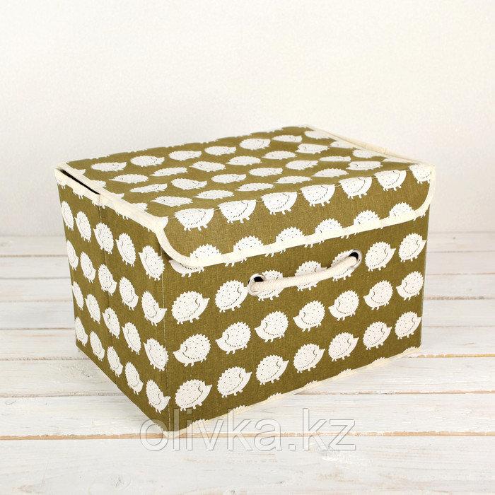 Короб для хранения с крышкой «Ёжики», 37×26×24 см