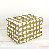 Короб для хранения с крышкой «Ёжики», 37×26×24 см, фото 2