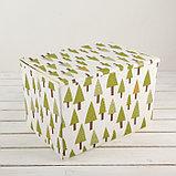 Короб для хранения с крышкой «Ёлки», 37×26×24 см, фото 2
