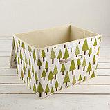 Короб для хранения с крышкой «Ёлки», 37×26×24 см, фото 3