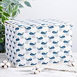 Короб для хранения с крышкой «Киты», 37×26×24 см, цвет белый, фото 2