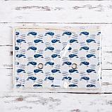 Короб для хранения с крышкой «Киты», 37×26×24 см, цвет белый, фото 6