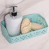 Полка для ванной комнаты на присосках «Вензель», 21×10×6 см, цвет МИКС, фото 5
