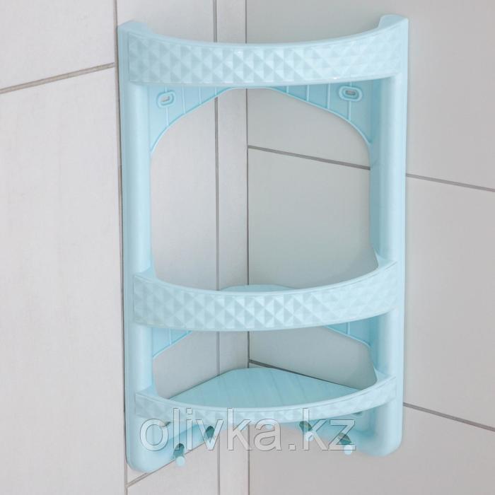 Полка угловая для ванной комнаты Милих, цвет МИКС