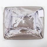 Корзинка для хранения «Тая», 3 кармана, 30×24×18 см, цвет бежевый, фото 6