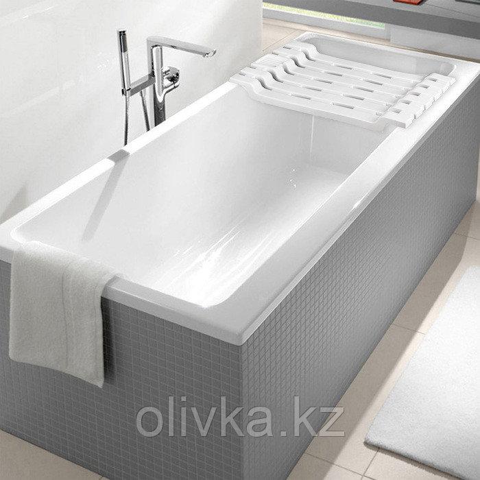 Полка на ванну IDEA, 69×30×6 см, цвет белый