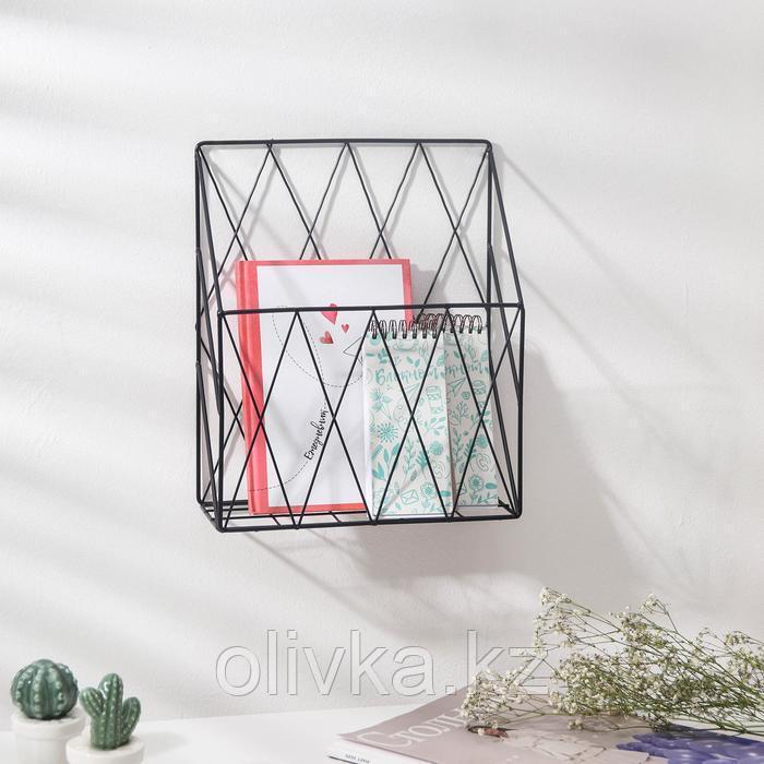 Полка Доляна «Лофт», 25×10,5×30 см, цвет чёрный