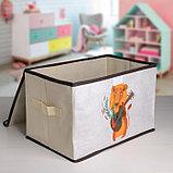 Короб для хранения с крышкой «Музыкальный лев», 39×25×25 см, фото 2