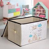 Короб для хранения с крышкой «Жеребёнок», 39×25×25 см, фото 2