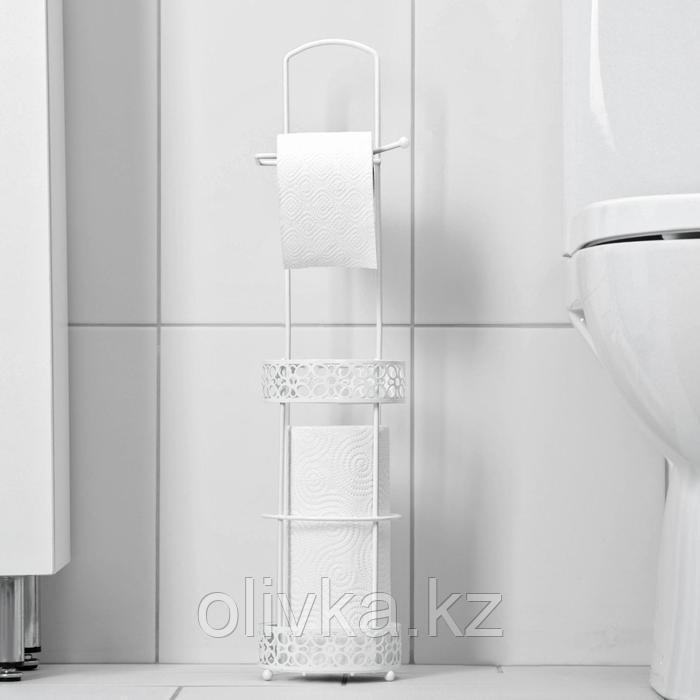 Органайзер для туалетной бумаги «Ажур», 86×13,5×13,5 см, цвет белый