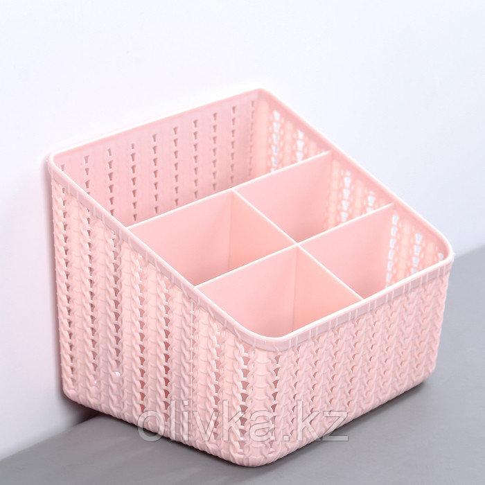 Органайзер IDEA «Вязание» 5 секций, цвет чайная роза