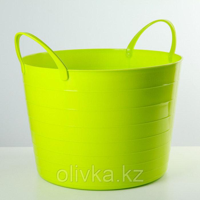Корзина для белья мягкая IDEA, 17 л, 33×33×24,5 см, цвет ярко-зелёный