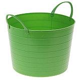 Корзина для белья мягкая IDEA, 17 л, 33×33×24,5 см, цвет ярко-зелёный, фото 3