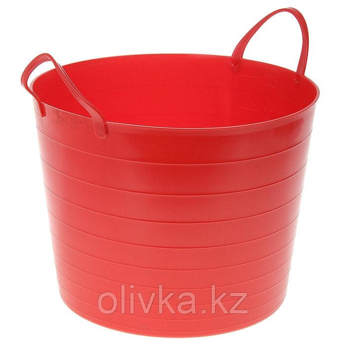 Корзина для белья мягкая IDEA, 27 л, 37,5×37,5×30 см, цвет красный