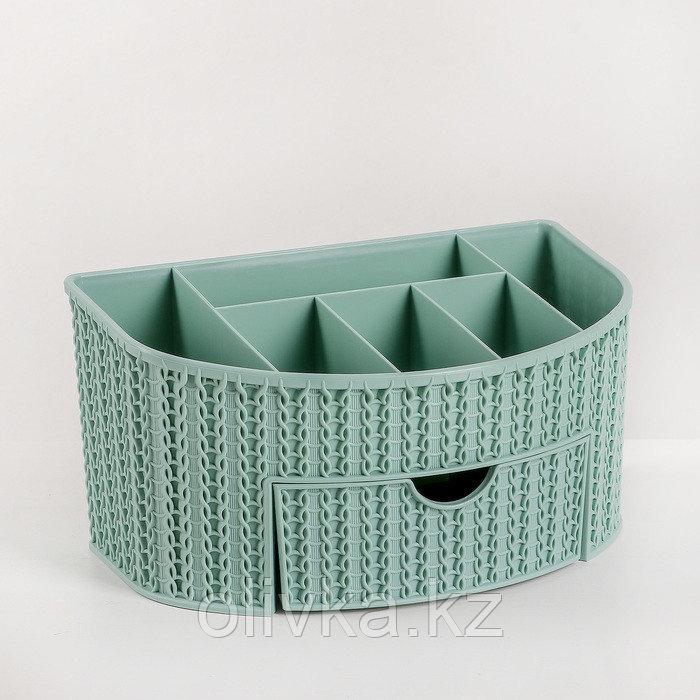 Органайзер IDEA «Вязание», с ящиком, цвет фисташковый