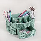 Органайзер IDEA «Вязание», с ящиком, цвет фисташковый, фото 2