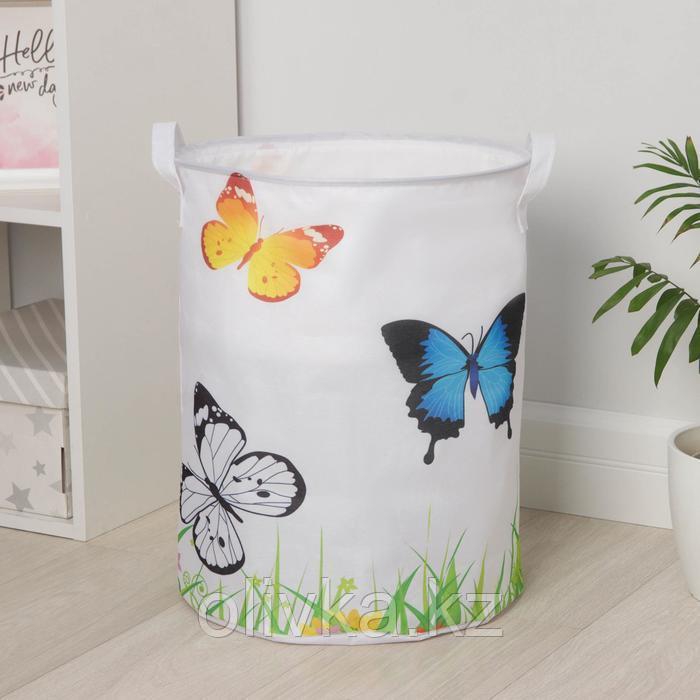 Корзина универсальная «Бабочки», 35×45 см, с затяжкой