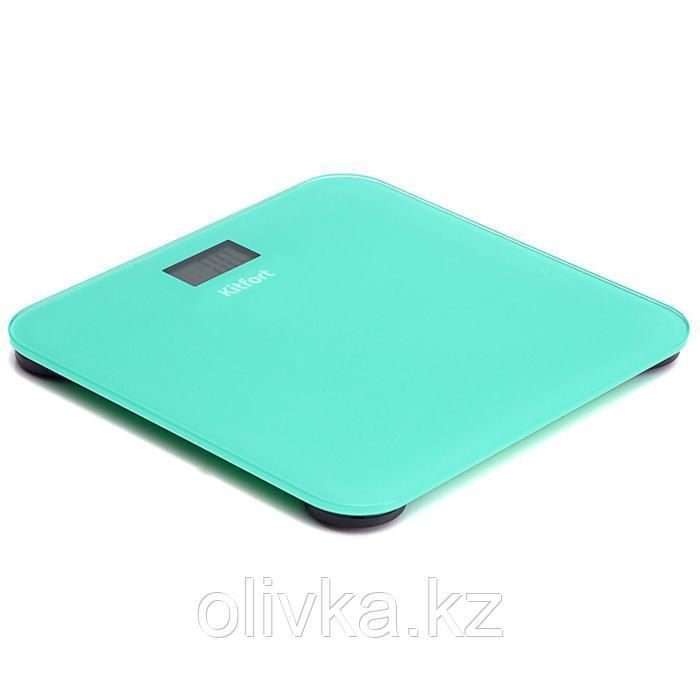 Весы напольные Kitfort KT-804-1, электронные, до 150 кг, зеленые