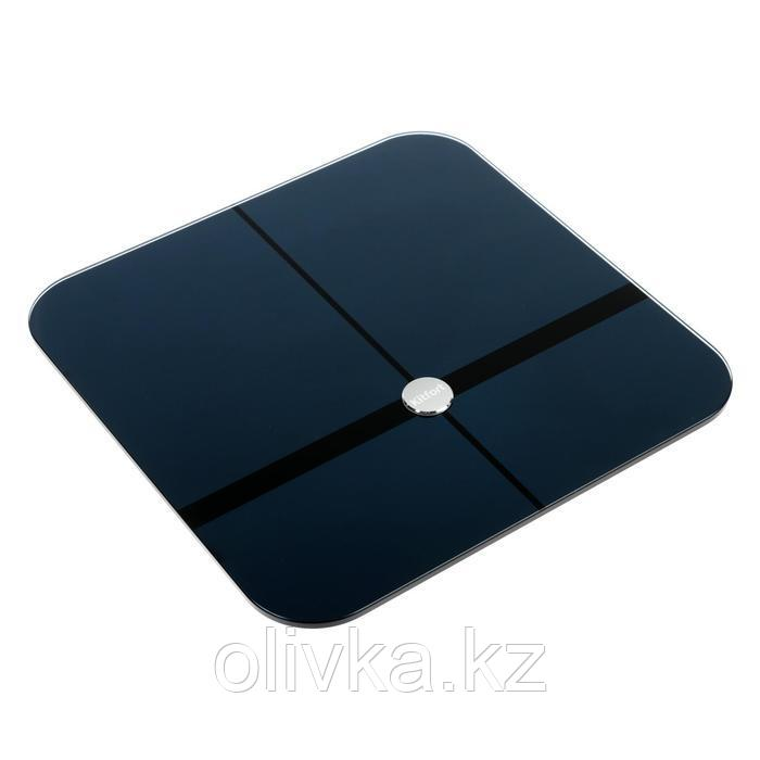 Весы напольные Kitfort КТ-807, электронные, до 180 кг, Bluetooth, 4хААА, черные
