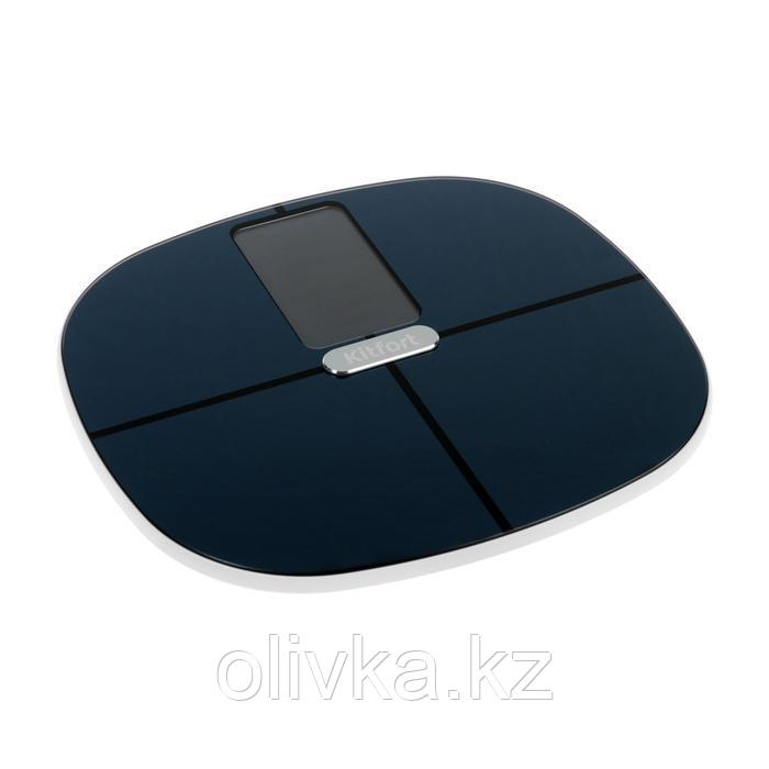 Весы напольные Kitfort КТ-809, электронные, до 180 кг, Bluetooth, 4хААА, черные