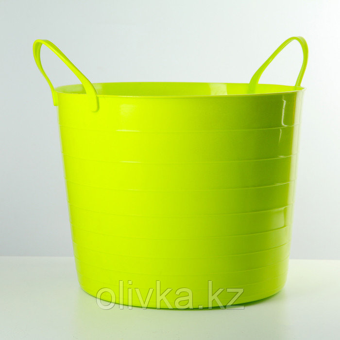 Корзина для белья мягкая IDEA, 27 л, 37,5×37,5×30 см, цвет ярко-зелёный