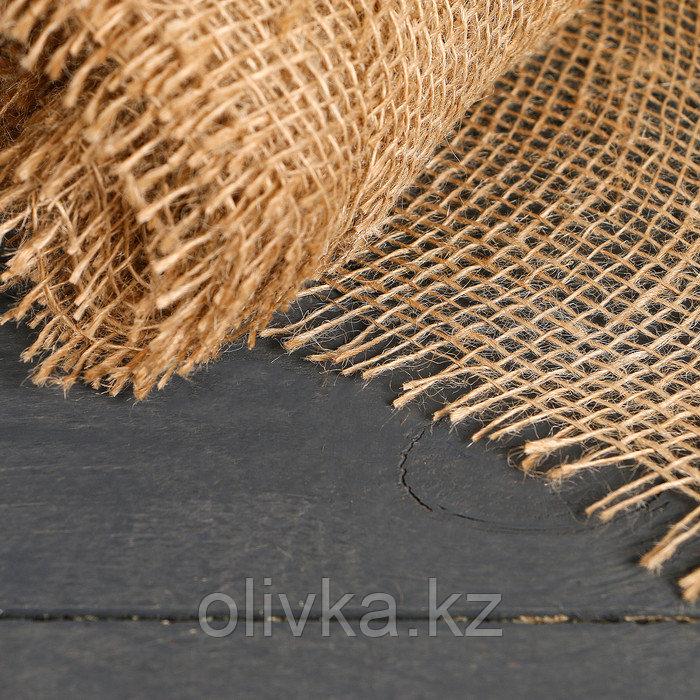 Джутовая лента, 0,15 × 5 м, плотность 190 г/м², плетение 34/24