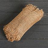 Джутовая лента, 0,15 × 5 м, плотность 190 г/м², плетение 34/24, фото 3
