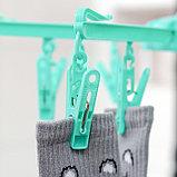 Сушилка для белья подвесная, складная, 18 прищепок, цвет МИКС, фото 2