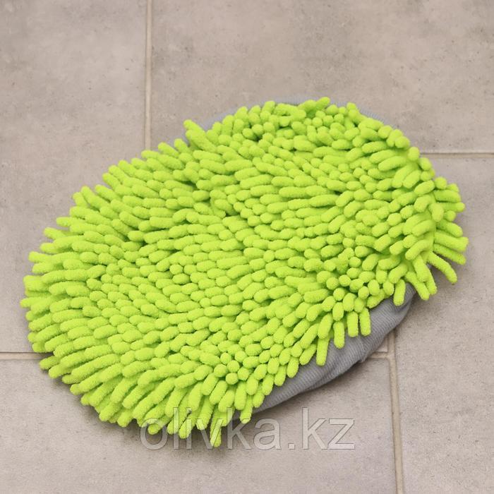 Насадка для швабры, 26×18×2 см, микрофибра букля, цвет зелёный