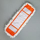 Насадка для плоской швабры Доляна, 40×12 см, микрофибра, цвет МИКС, фото 2