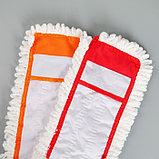 Насадка для плоской швабры Доляна, 40×12 см, микрофибра, цвет МИКС, фото 4