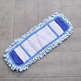 Насадка для плоской швабры Доляна, 40×10 см, микрофибра, цвет МИКС, фото 2