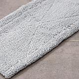 Насадка для плоской швабры, 57×15 см, микрофибра, цвет светло-серый, фото 3