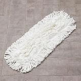 Насадка для плоской швабры, 57×15 см,микрофибра, длинный ворс, цвет белый, фото 2