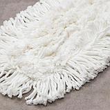 Насадка для плоской швабры, 57×15 см,микрофибра, длинный ворс, цвет белый, фото 3