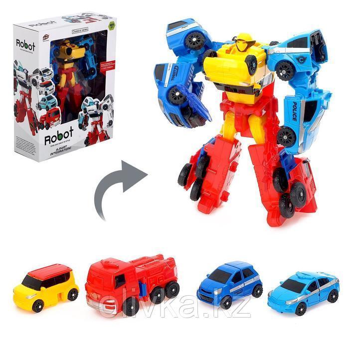 Набор роботов «Мегабот», собирается из четырёх трансформеров