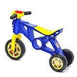 Каталка-мотоцикл трехколёсный, цвет синий, фото 2