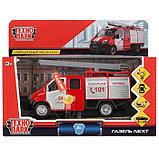 Машина металл «ГАЗель Next пожарная» 14,5 см, свет+звук, инерционная, фото 2