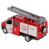Машина металл «ГАЗель Next пожарная» 14,5 см, свет+звук, инерционная, фото 3