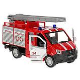 Машина металл «ГАЗель Next пожарная» 14,5 см, свет+звук, инерционная, фото 4