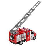 Машина металл «ГАЗель Next пожарная» 14,5 см, свет+звук, инерционная, фото 5