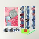 """Алмазная вышивка с частичным заполнением """"Котик"""" 15*21 см, холст, фото 3"""