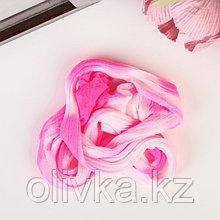 Капрон для кукол и цветов 60-100см цв.розово-белый